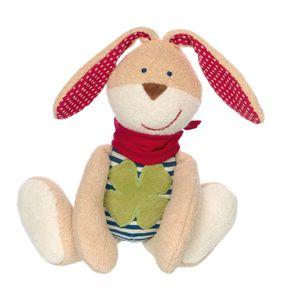 Sigikid Green Organic Spielfigur Hase, Kuscheltier, Kuschel Plüsch Tier, Stofftier, Schlenker, Baumwolle, Blau, 25 cm, 39049