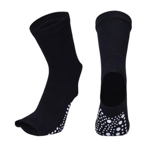 Yoga Socken Stoppersocken Damen anti Rutsch Abs Socken Noppen, Toeless Fersen 24x13cm Schwarz Yoga-Socken Solide