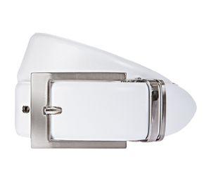 LLOYD Men's Belts Gürtel Leder Herrengürtel Ledergürtel Weiß 6680, Länge:110, Farbe:Weiß