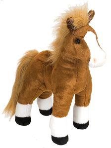 Wild Republic kuscheltier-Pferd Junior 30 cm Plüsch braun/weiß