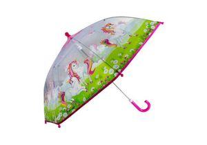 Kinder-Regenschirm transparent Einhorn Wiese - bb-Klostermann 53125 -