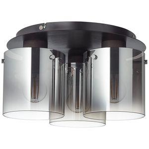 BRILLIANT BETH Deckenleuchte Ø 35 cm Glas Metall Schwarz rauchglas 3-Flammig