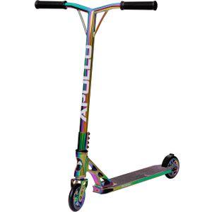 """Apollo Stunt Scooter """"Genesis X Pro"""" High End Kickscooter mit 110mm PolyurethanWheels und ABEC9 - Full Rainbow"""