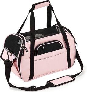Transporttasche für Katzen Hunde Comfort Fluggesellschaft zugelassen Travel Tote Weiche Seiten Tasche für Haustiere