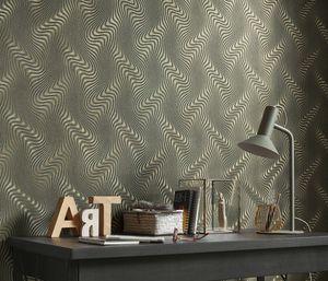 10146-15 Fashion for walls Wandtapete Streifen/Wellen schwarz Tapete Wohnzimmer