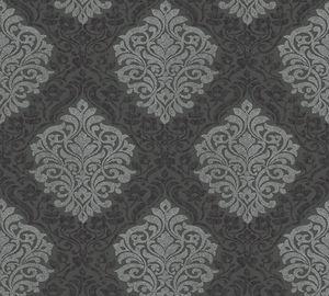 Architects Paper Vliestapete Alpha Ökotapete metallic schwarz 10,05 m x 0,53 m 324804 32480-4