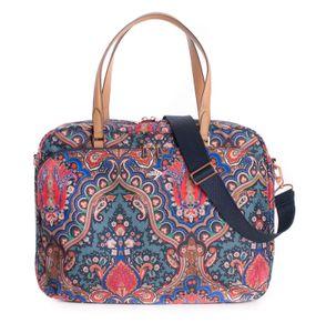 Oilily Paisley Office Bag Royal Blue