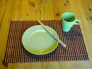 Tischset Platzmatten-Set Bamboo 4 teilig braun natur 45 x 30 cm, Tischmatten