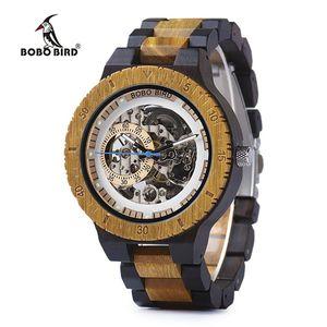 BOBO VOGEL Holz Armbanduhr Damen Frauen Mechanische Holzarmband in Geschenkbox