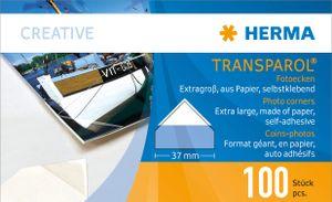 HERMA Transparol Foto Ecken extra groß 2er Streifen 100 Stück