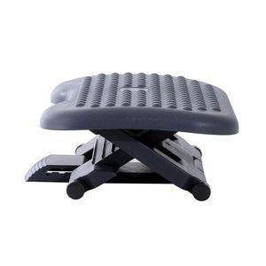 HOMCOM Fußstütze Fussstütze Fußablage Relax Fuß Stütze für Büro, höhenverstellbar, Kunststoff, schwarz, 46x35cm