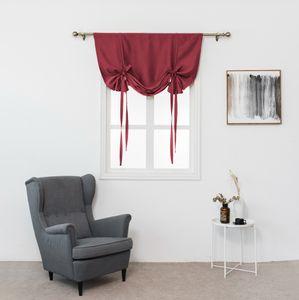 Wärmeisolierter Verdunkelungsvorhang für Ballonjalousie mit kleinem Fenster HQJ81011572RD