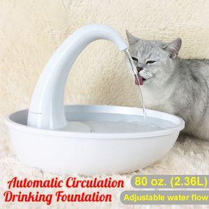 2.36L Trinkbrunnen Haustier Wasserspender Brunnen Katzenbrunnen Für Hunde Katzen