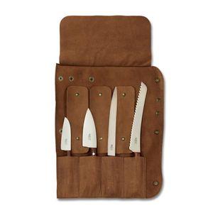 Windmühlenmesser Messerrolle 2 Plus Leder für 4 Messer (unbestückt)