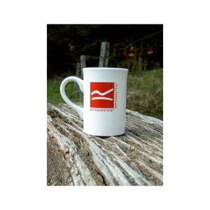 ROTHAARSTEIG Keramiktasse Kaffeetasse Becher weiß mit Logo