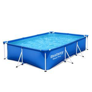 Bestway Steel Pro 3.00m x 2.01m x 66cm, Blau, 3300 l, Gerahmter Pool, Blau, 20,7 kg