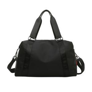 Waterpoof Sports Duffel Sporttasche Weekender Fitness Carry On Rucksack Farbe Black_L
