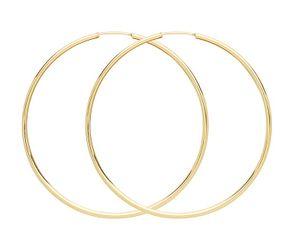 9 Karat (375) Gold Damen - Paar Creolen - 37mm; WJS3858