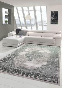 Teppich modern mit Ornamenten Orientteppich in grau Größe - 200 x 290 cm