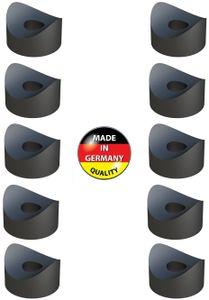 10x distanzhülsen kunststoff M6 x 5mm schrauberund unterlegscheiben rohr schraube schwarz Satteldistanzstücke