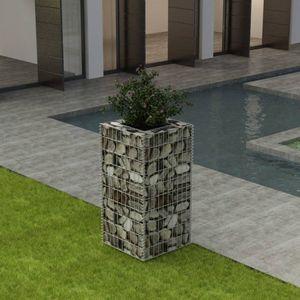 Gabionen-Hochbeet Garten-Hochbeet Hochbeet Stahl 50×50×100 cm
