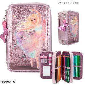 Depesche 10907 Fantasy Model 3-Fach Federtasche gefüllt Ballett Ballerina lila