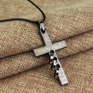 Anime Death Note Black Metal Halskette Kreuz Logo Anhänger Cosplay Colle
