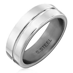 viva-adorno Gr. 62 (19,7 mm Ø) Damen Herren Ring Bandring Fingerring Edelstahl Ring matt gebürstet mattiert silber RS61a,