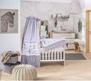 Schardt Spar Set Babyzimmer Mick 2 Teilig mit Bett und Wickelkommode mit Griffe