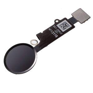 Home Button für iPhone 8 SCHWARZ Flex Kabel + Metal Bracket Homebutton