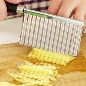 Kartoffel Pommes FrÃ1/4chte Schneidemaschine Knittern Schnitt Messer Re-
