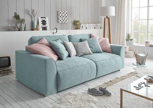 """Couch """"Lazy"""" Schlafcouch Bettsofa Schlafsofa Sofabett Funktionssofa ausziehbar aqua blau 250 cm"""