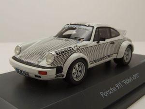 """Porsche 911 Rallye """"Röhrl x 911"""" 1974 weiß Modellauto 1:43 Schuco"""