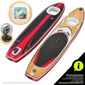 Messe-Neuheit 2020 Premium WBX SUP-Board mit 2in1 Sichtfenster | Action-Cam Ready +9in1 Set | Deutsche Qualitätsmarke | Aufblasbares Stand Up Paddel Board |Wassersport Kajak Sitz | Paddling Surfbrett