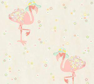 Livingwalls Vliestapete Cozz Ökotapete beige creme rosa 10,05 m x 0,53 m 362911 36291-1