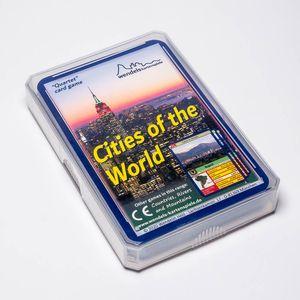 Wendels Kartenspiele Städte Trumpf Quartett auf Englisch: Cities of The World | Kleines Geschenk für Kinder & Familie