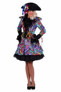 Luftschlangen-Jacke / Luftschlangen-Jackett (L) Damen Kostüm Garde Jacke Luftschlange Karneval Fasching Gr.L