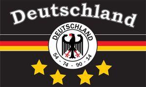 Flagge DEUTSCHLAND 7 4 Sterne schwarz 250 x 150cm, Stoffgewicht ca. 100 g/m² -Fahne- Hissfahne- Hissflagge - Sturmflagge -zum hissen -  - keine billige Chinaqualität