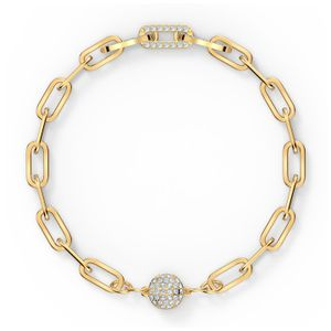 Swarovski Armband 5572652 The Elements Chain, weiss, vergoldet