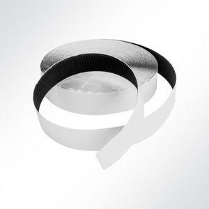 Lysel® Klettband selbstklebend schwarz Haken, (B) 20mm in Schwarz (1 lfm)