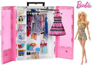Barbie Traum Kleiderschrank mit Puppe