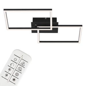 LED Wand- & Deckenleuchte CCT Fernbedienung schwarz 30W IP20 Briloner Leuchten