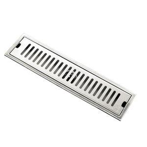 Edelstahl rechteckige Badezimmer Bodenablauf Spülen Sieb 40cm Silber Rechteckig