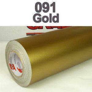 (7,27€/m²) Oracal® Möbelfolie 091 Gold Matt 31,5 cm Breite Laufmeterware selbstklebende Folie Plotterfolie Klebe Folie Oracal 631 matte Küchenfolie