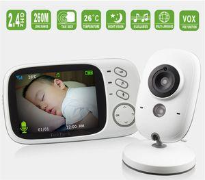 3,2 Zoll Wireless Video Color Babyphone Hochauflösende Baby Nanny Überwachungskamera Nachtsicht Temperaturüberwachung Weiß