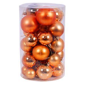 30tlg. Christbaumkugeln / Weihnachtskugeln orange Ø 4/5/6/7cm