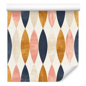 10m VLIES TAPETE Rolle Geometrisch Muster Modern Bunt Linien Wellen XXL