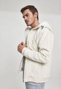 Urban Classics TB2421  Hooded Corduroy Jacket, Größe:L, Farbe:lightsand/offwhite