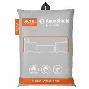 AquaShield Lounge-Schutzhülle quadratisch, 235x235xH70 cmZugband mit 2 Stoppern, Gummiband an 4 Ecken2x Active Air System