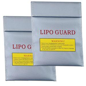 2x 18x22 cm Lipo Li-Ion Ni-Mh Ni-CD Akku Guard Safe Safety Bag Tasche Ladetasche Ladetasche Sicherheitstasche